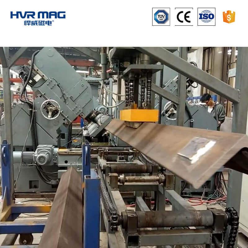 电永磁铁自动化搬运宽厚角钢