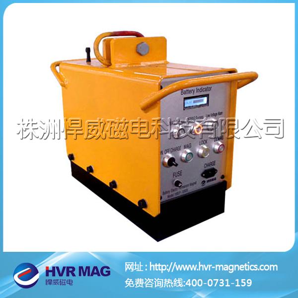 电池式电永磁起重器_充电式电永磁铁效果演示