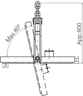 侧吊型电永磁起重器外形设计图