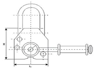 永磁起重器独特的手柄开关示意图