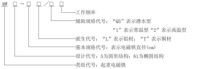 MW5电磁铁型号含义