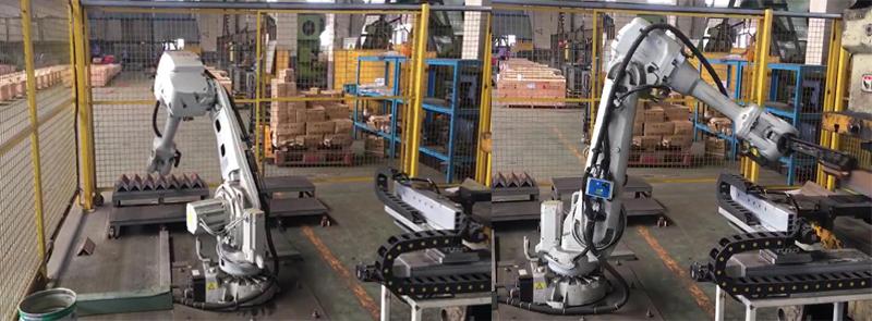 机器人搬运角钢