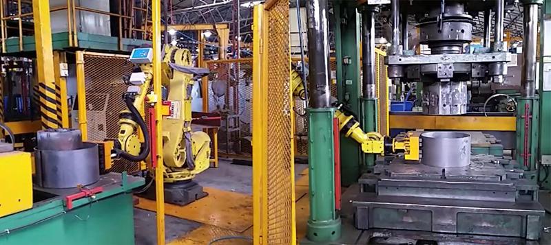 机器人搬运钢卷